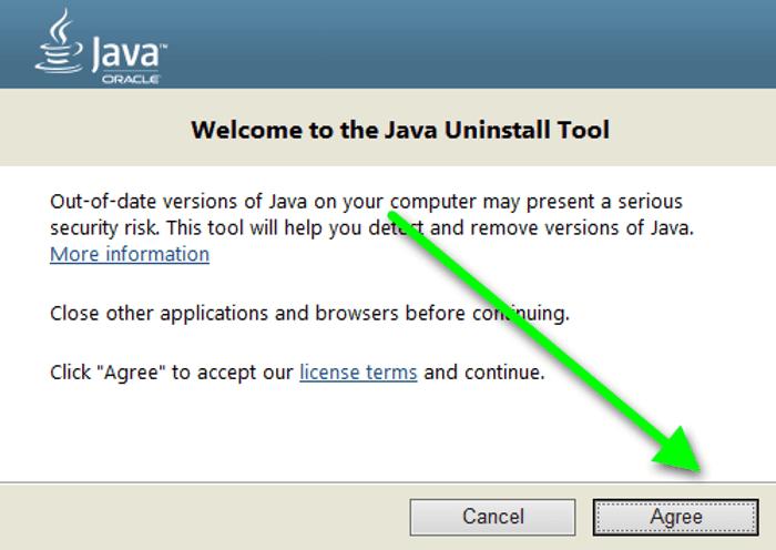 удаление Джавы утилитой Java UninstallTool