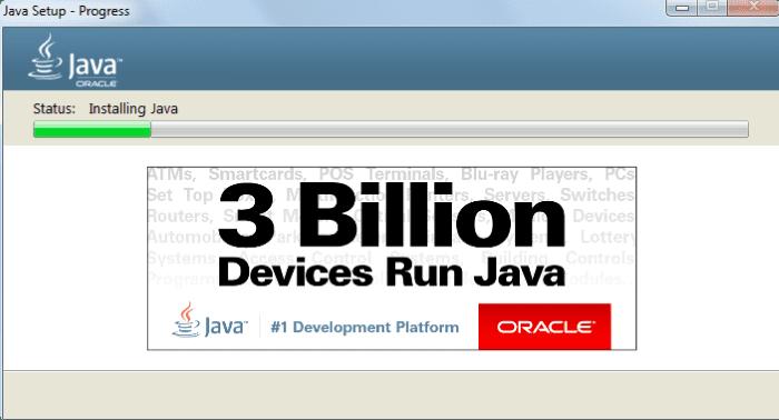 установка Java на компьютер