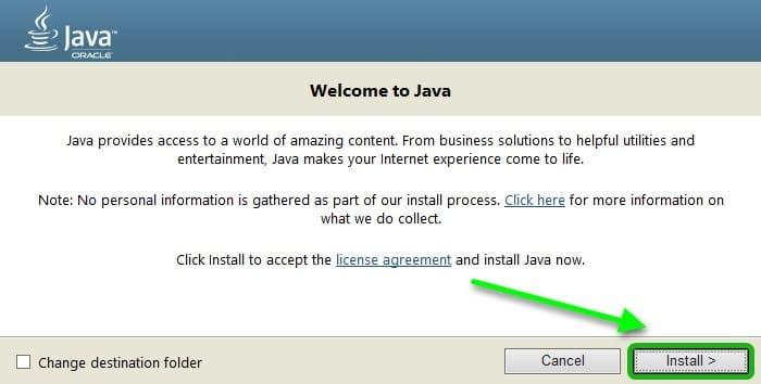 установка Java для Google Chrome